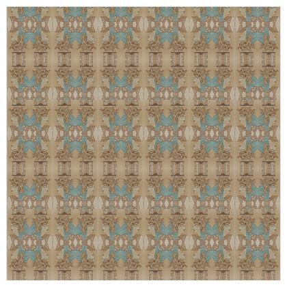 'Nefertari' Curtains in Cream and Blue