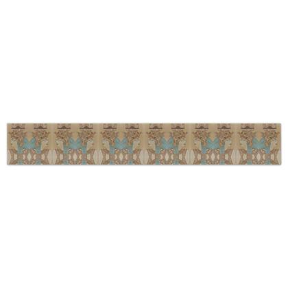 'Nefertari' Wallpaper Border in Cream and Blue