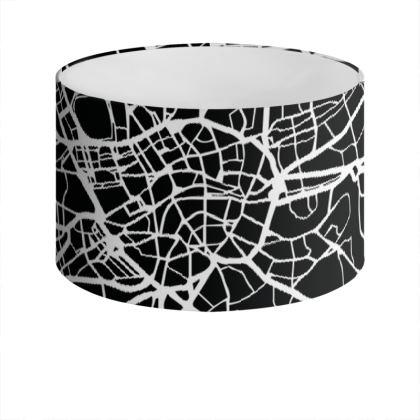 Black London Map Drum Lamp ShadeDrum Lamp Shade