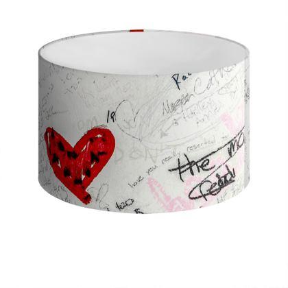 Bathroom Wall Graffiti Drum Lamp Shade