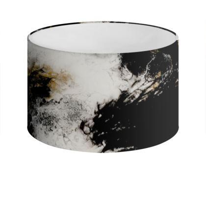 Royal Black Abstract Art Drum Lamp Shade