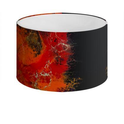 Orange Abstract Art Drum Lamp Shade