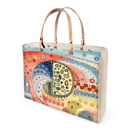 MUELLE UNO Leather Handbag by Rachel Rosa ART