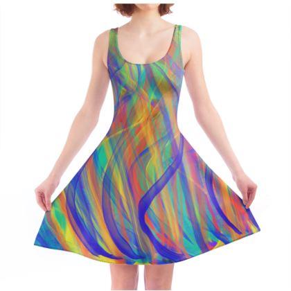 Ribbons of Light Skater Dress