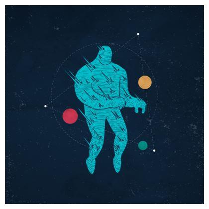 'Burning Man' Illustrated Cushion