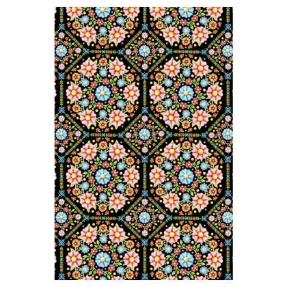 Millefiori Floral Long Slip Dress