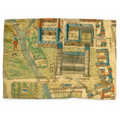 King's College chapel Cotton linen-look tea towel