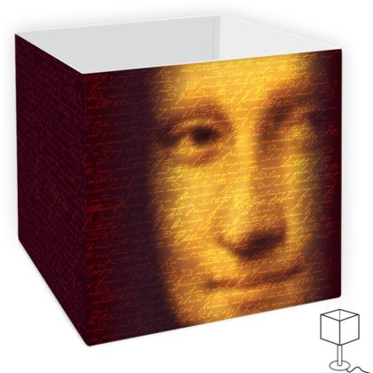 Leonardo's Mona Script Square Lamp Shade