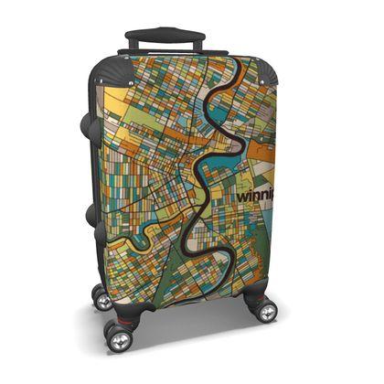 Winnipeg Map Suitcase