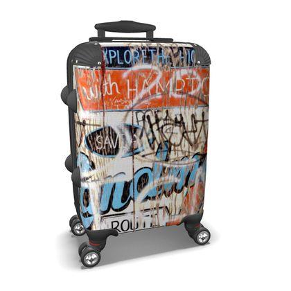 Route 66 Fence Graffiti Suitcase