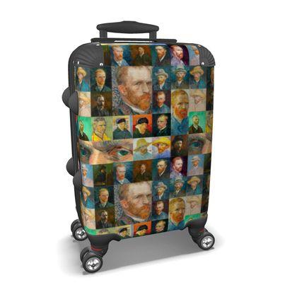 Portraits of Vincent Collage Suitcase