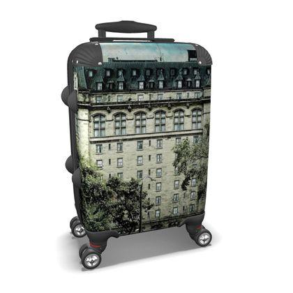 Haunting Vintage Hotel Suitcase