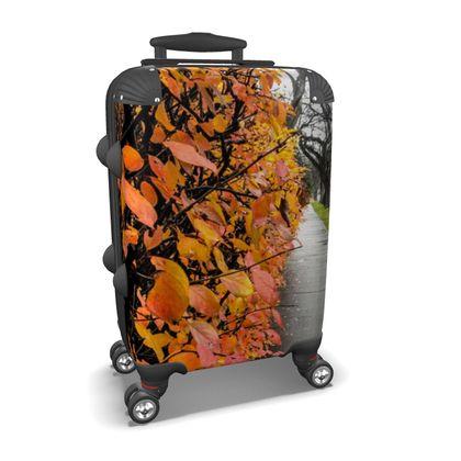 Autumn Sidewalk View Suitcase