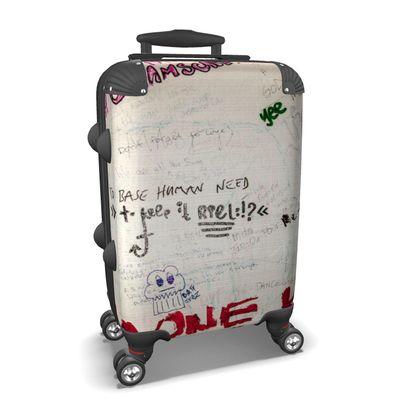 Bathroom Wall Graffiti Suitcase