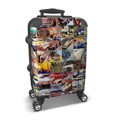 Abstract Route 66 Car Collage Suitcase