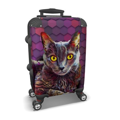 Abstract Happy Cat Suitcase