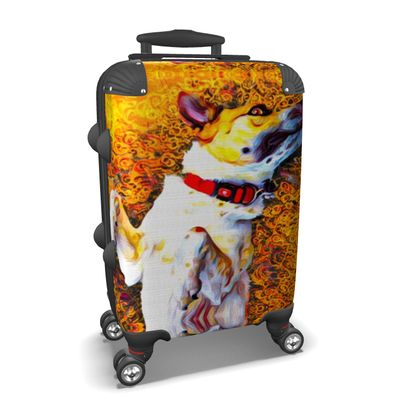 Abstract Happy Dog Suitcase