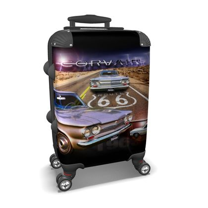 Vintage Corvair on Route 66 Suitcase