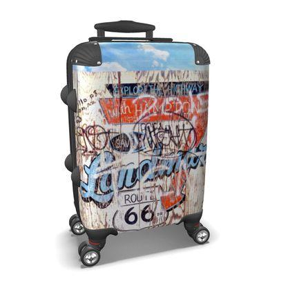 Route 66 Graffiti Fence Suitcase