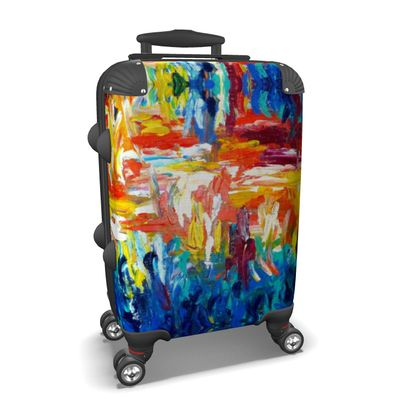 Colourful Abstract Art Suitcase