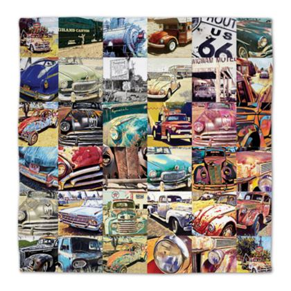 Route 66 Abstract Vehicles Napkins