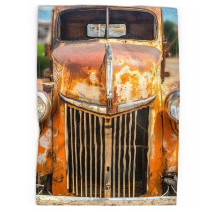 Vintage Rusty Ford Vehicle Tea Towels