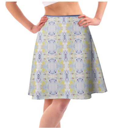 Grey Butterfly Flared Skirt