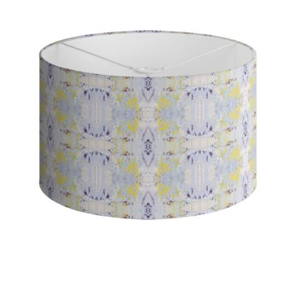 Grey Butterfly Drum Lamp Shade