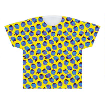 Blue Raspberry Waltz Kids T Shirts In Bright Yellow