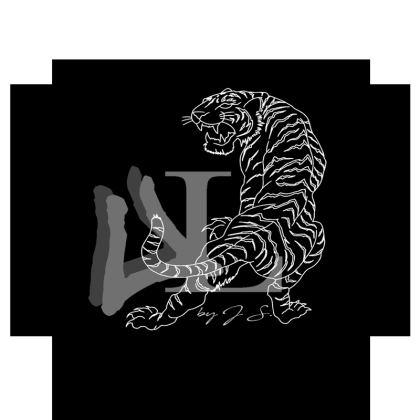 Urban Luxury Collection: Logo Print Travel Mug Design by J S.