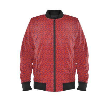 Wriggly Bits Ladies Bomber Jacket in Red