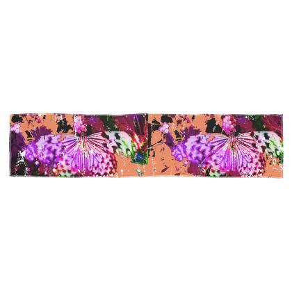 Hot Magenta Butterflies scarf