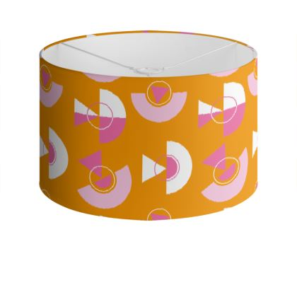 Playground Drum Lamp Shade in Orange