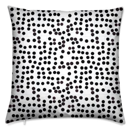 Spot On Cushions in Black and White