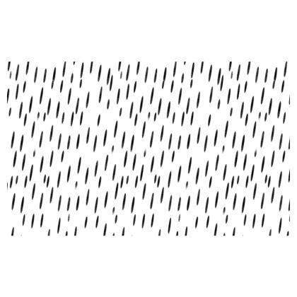 Raining Opportunities Zip Top Handbag in Black and White