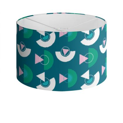 Playground Drum Lamp Shade in Teal