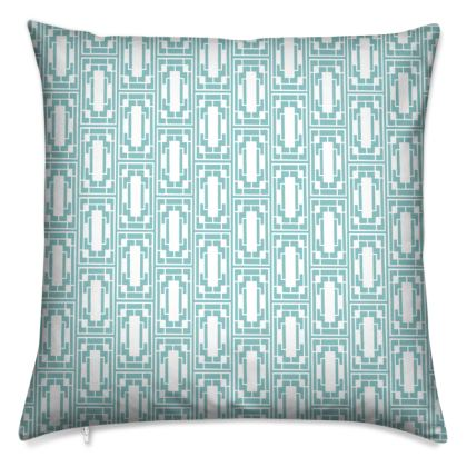 China Girl Cushions in Light Petrol