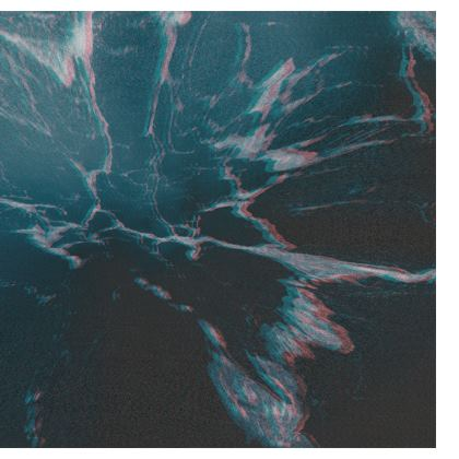 "Luggage Tag ""Marbled Ice"""