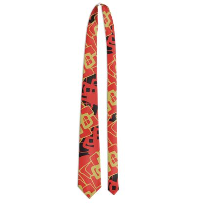 Abstract Diamond - Tie (Red)
