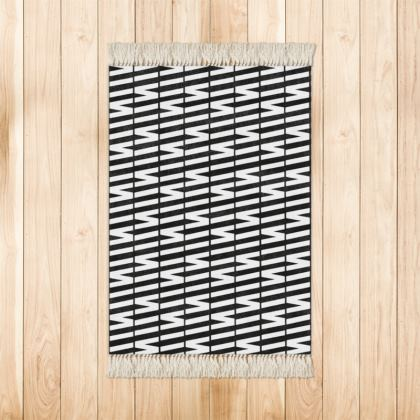 Zig My Zag Rugs in Black and White