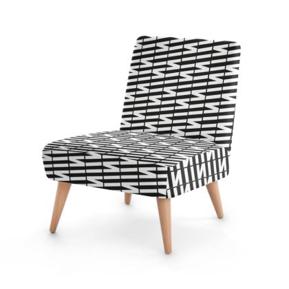 Zig My Zag Occasional Chair in Black and White