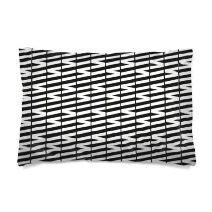 Zig My Zag Pillow Case in Black and White