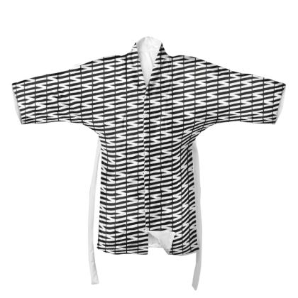 Zig My Zag Kimono in Black and White