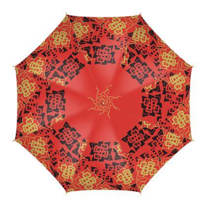 Abstract Diamond - Umbrella (Red)