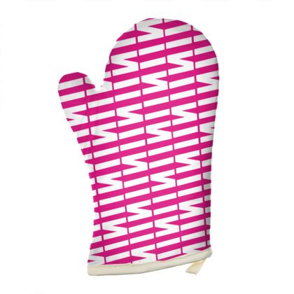 Zig My Zag Oven Glove in Daring Pink