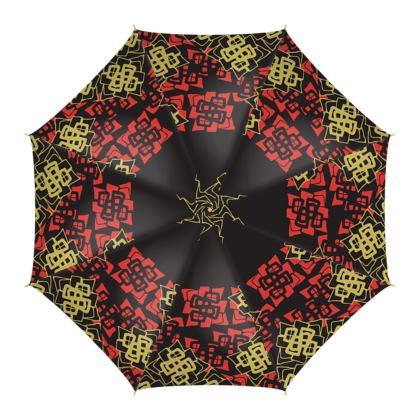Abstract Diamond - Umbrella (Black)