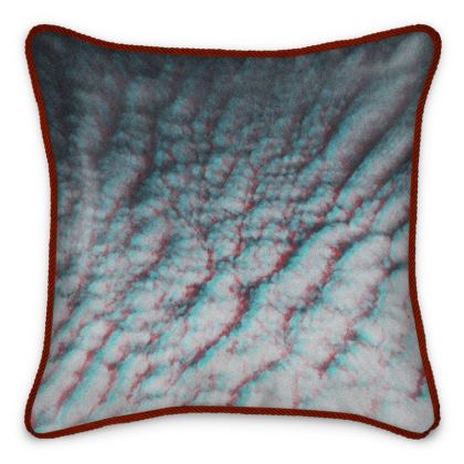 "Silk Cushion ""Clouds in Aspic"""