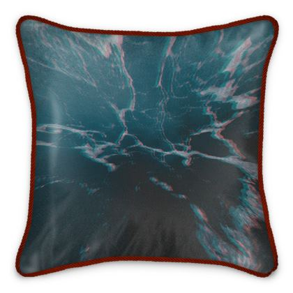 "Silk Cushion ""Marbled Ice"""