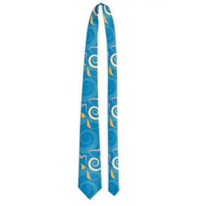 Tessellating Swirls - Tie Blues & Yellow