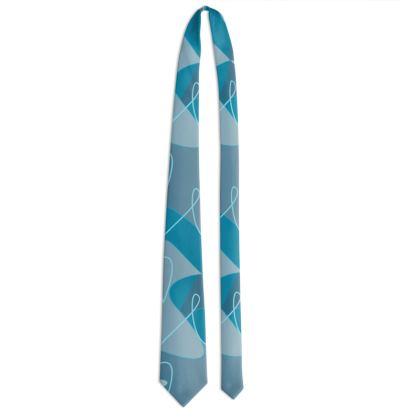 Tessellating Lines - Tie (Blues)